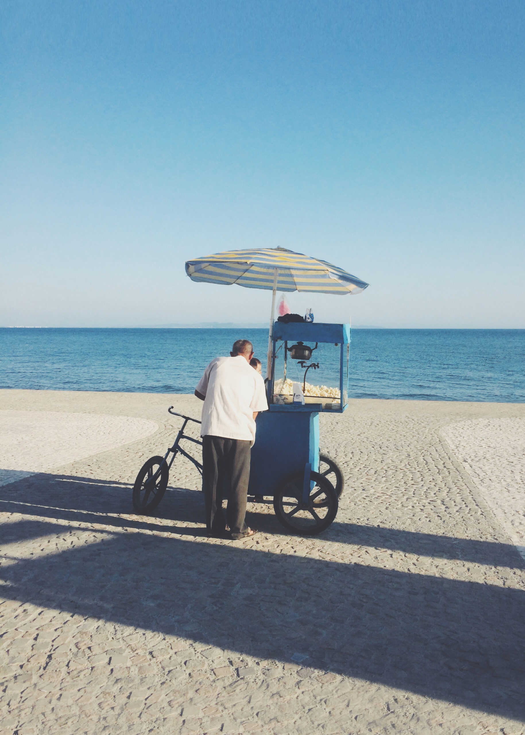 Blue Pop Corn Cart, Durrës, Albania